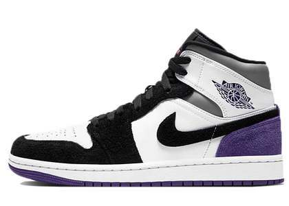 Nike Air Jordan 1 Mid SE White Court Purpleの写真