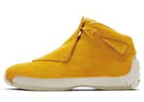 NIKE AIR JORDAN 18 RETRO YELLOW OCHREの写真