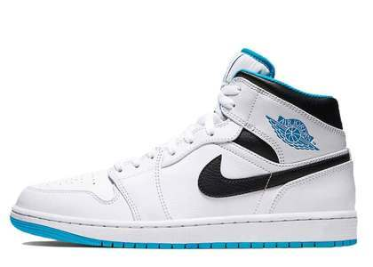 Nike Air Jordan 1 Mid White Laser Blueの写真