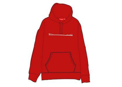 Supreme Shop Hooded Sweatshirt Japan Redの写真