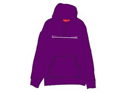 Supreme Shop Hooded Sweatshirt Japan Purpleの写真