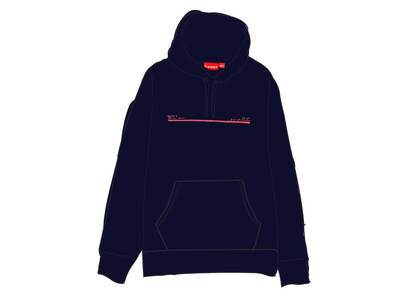 Supreme Shop Hooded Sweatshirt Japan Navyの写真