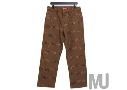 Supreme Work Pant Brown Houndstoothの写真
