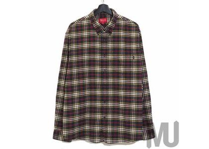 Supreme Tartan Flannel Shirt Black (20FW)の写真