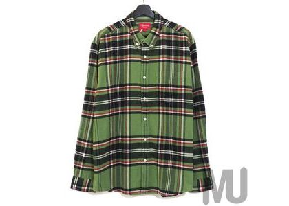 Supreme Tartan Flannel Shirt Green (20FW)の写真