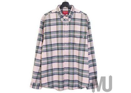 Supreme Tartan Flannel Shirt Pale Pink (20FW)の写真