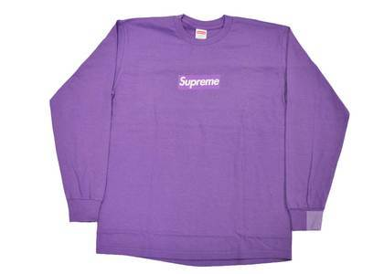 Supreme Box Logo L/S Tee Purpleの写真
