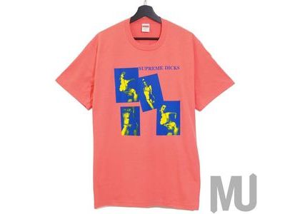 Supreme Dicks Tee Bright Coralの写真