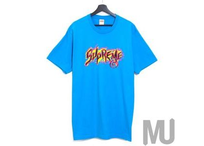 Supreme Scratch Tee Bright Blueの写真