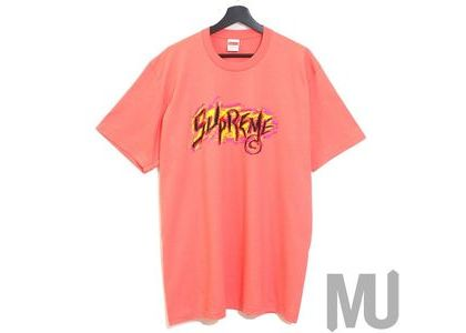 Supreme Scratch Tee Bright Coralの写真