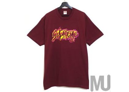 Supreme Scratch Tee Burgundyの写真