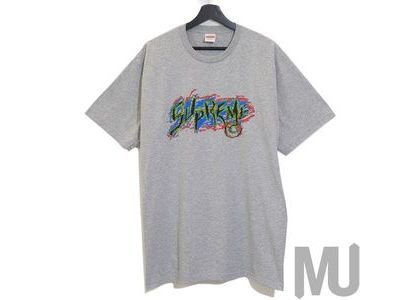 Supreme Scratch Tee Heather Greyの写真
