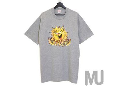 Supreme Sun Tee Heather Greyの写真