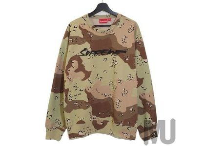 Supreme Futura Logo Crewneck Chocolate Chip Camoの写真