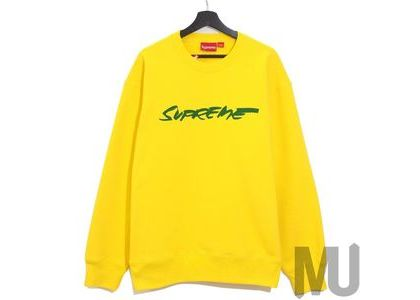 Supreme Futura Logo Crewneck Yellowの写真