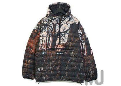 Supreme Micro Down Half Zip Hooded Pullover Woodsの写真