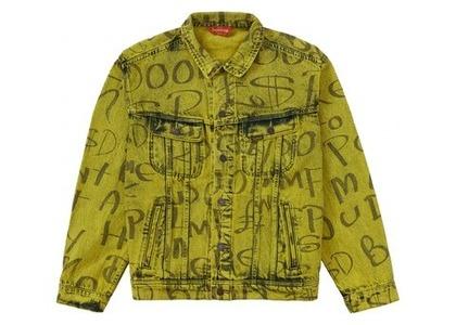 Supreme Black Ark Denim Trucker Jacket Fluorescent Yellowの写真