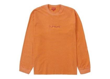 Supreme Micro Stripe L/S Top Orangeの写真