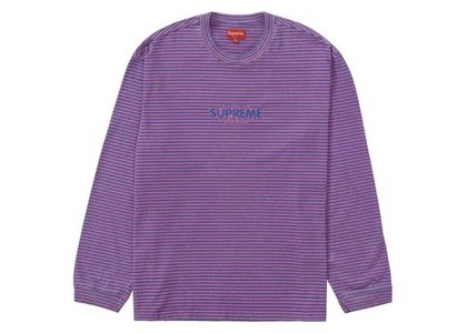 Supreme Micro Stripe L/S Top Pinkの写真