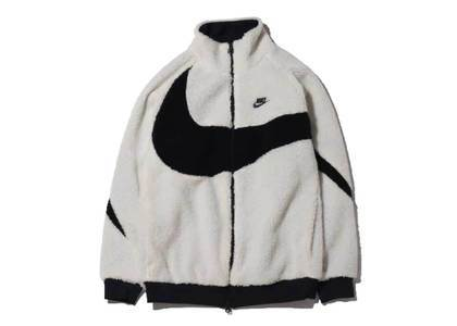Nike Big Swoosh Boa Jacket Whie Blackの写真