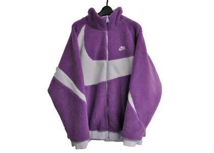 Nike Big Swoosh Boa Jacket Purpleの写真