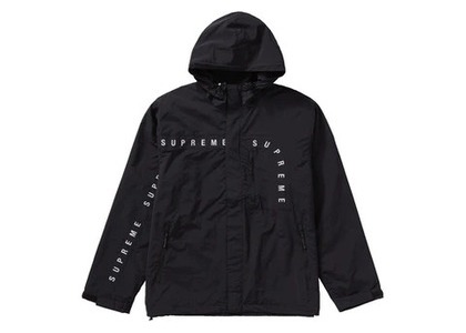 Supreme Curve Logos Ripstop Jacket  Blackの写真