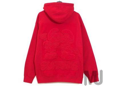 Supreme × Smurfs Hooded Sweatshirt  Redの写真