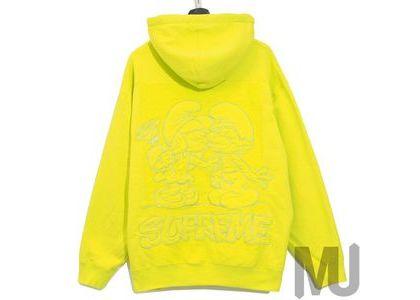 Supreme × Smurfs Hooded Sweatshirt  Acid Greenの写真