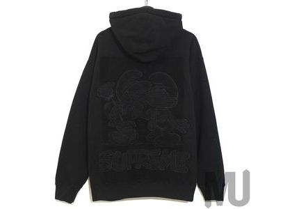 Supreme × Smurfs Hooded Sweatshirt  Blackの写真