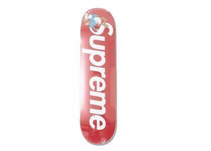 Supreme × Smurfs Skateboard  Redの写真