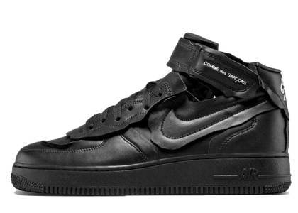 Comme Des Garcons × Nike Air Force 1 MID Blackの写真