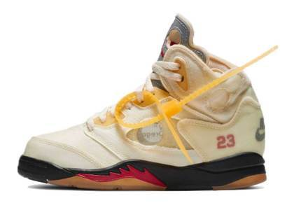 Off-White × Nike Air Jordan 5 Sail PSの写真