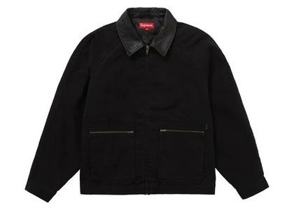 Supreme Leather Collar Work Jacket Blackの写真