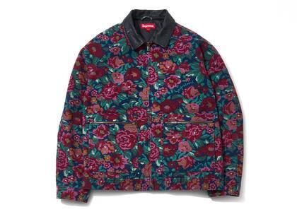 Supreme Leather Collar Work Jacket Digi Floralの写真