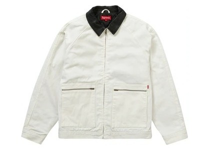 Supreme Leather Collar Work Jacket Naturalの写真