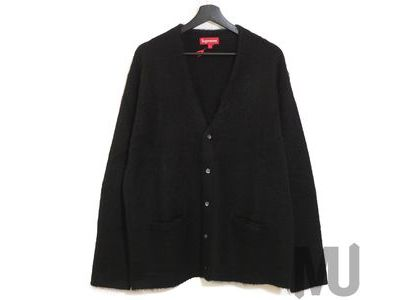 Supreme Brushed Mohair Cardigan Blackの写真
