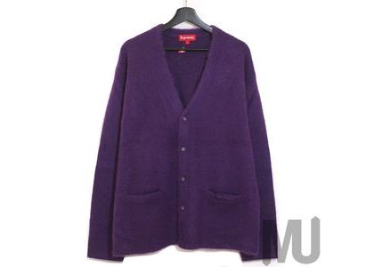 Supreme Brushed Mohair Cardigan Purpleの写真
