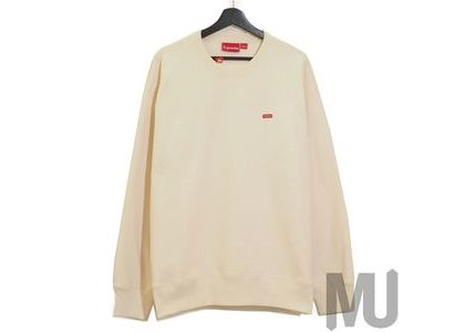 Supreme Small Box Crewneck Naturalの写真
