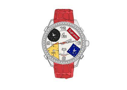 Supreme × Jacob & Co Time Zone 47mm Watch Redの写真