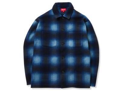 Supreme Shadow Plaid Fleece Shirt Blueの写真
