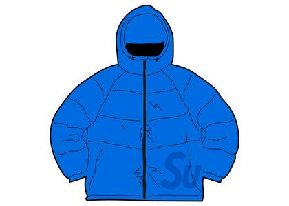 Supreme Hooded Down Jacket Fluorescent Blueの写真