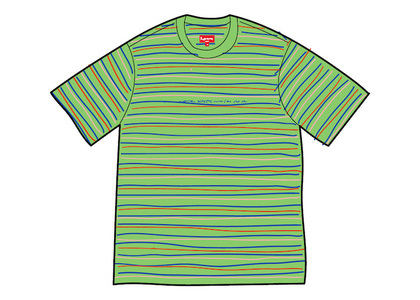 Supreme Stati Uniti Stripe S/S Top Greenの写真