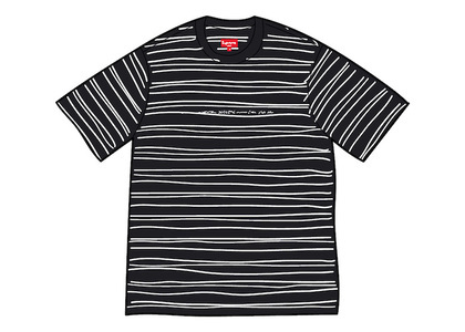 Supreme Stati Uniti Stripe S/S Top Blackの写真