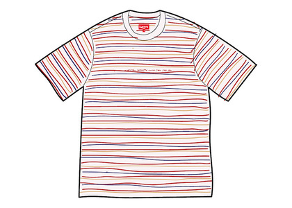 Supreme Stati Uniti Stripe S/S Top Whiteの写真