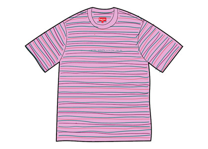 Supreme Stati Uniti Stripe S/S Top Light Violetの写真