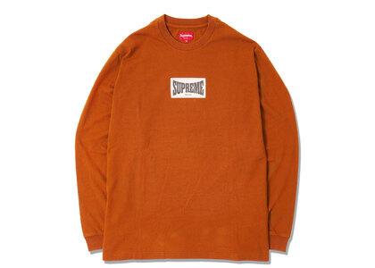 Supreme Woven Label L/S Top Rustの写真