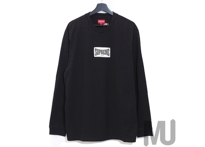 Supreme Woven Label L/S Top Blackの写真