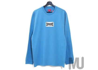 Supreme Woven Label L/S Top Slateの写真