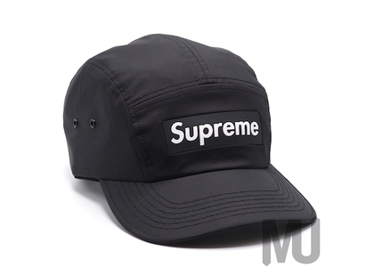 Supreme Inset Logo Camp Cap Blackの写真