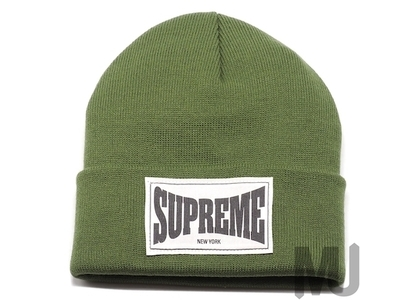 Supreme Woven Label Beanie Oliveの写真